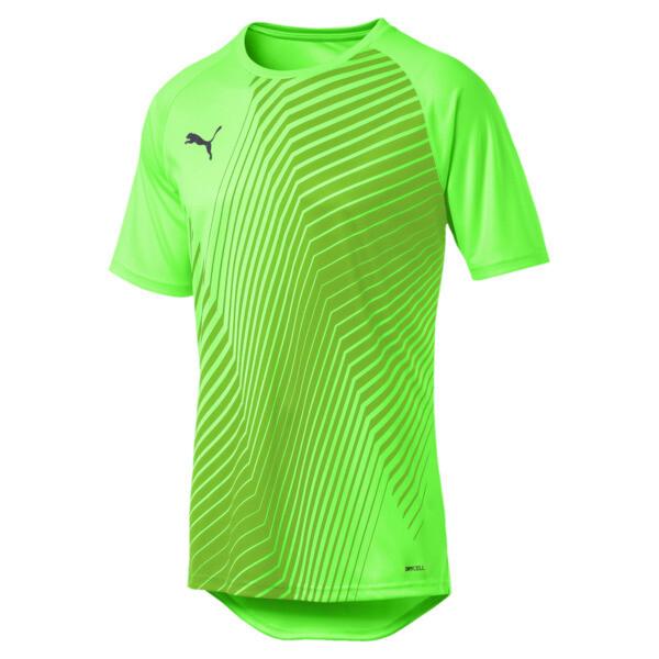 ftblNXT Core Men's Football Graphic Tee, Green Gecko-Ebony, large