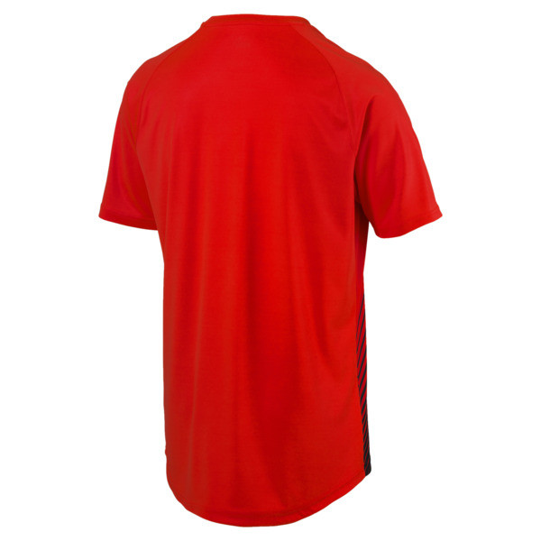 ftblNXT Core Men's Football Graphic Tee, Red Blast-Puma Black, large