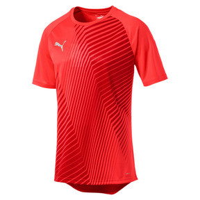 Thumbnail 4 of ftblNXT Core Men's Football Graphic Tee, Red Blast-Puma Black, medium