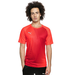 Thumbnail 1 of ftblNXT Core Men's Football Graphic Tee, Red Blast-Puma Black, medium