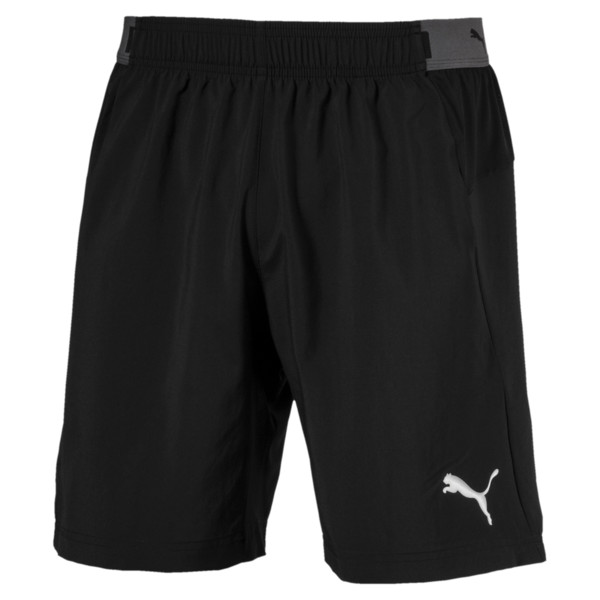 ftblNXT Woven Men's Shorts, Puma Black-Red Blast, large