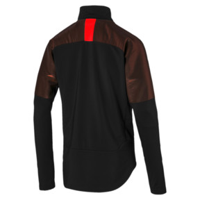 Thumbnail 5 of ftblNXT Quarter Zip Men's Football Top, Puma Black-Red Blast, medium