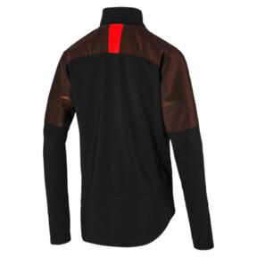 Thumbnail 5 of ftblNXT 1/4 Zip Herren Sweatshirt, Puma Black-Red Blast, medium