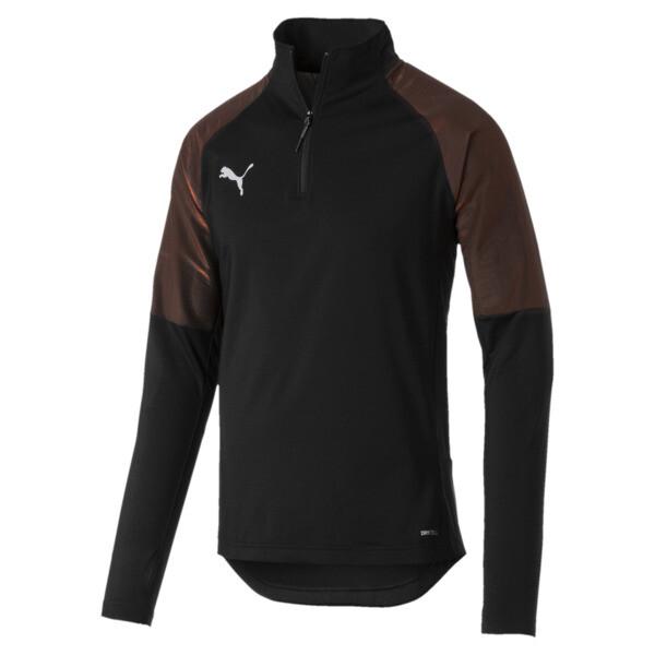 ftblNXT 1/4 Zip Herren Sweatshirt, Puma Black-Red Blast, large