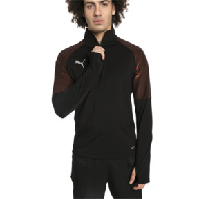 Thumbnail 1 of ftblNXT Quarter Zip Men's Football Top, Puma Black-Red Blast, medium