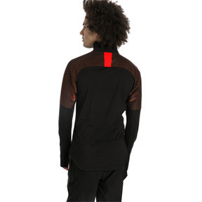 Thumbnail 2 of ftblNXT Quarter Zip Men's Football Top, Puma Black-Red Blast, medium