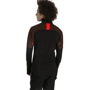Thumbnail 2 of ftblNXT 1/4 Zip Herren Sweatshirt, Puma Black-Red Blast, medium