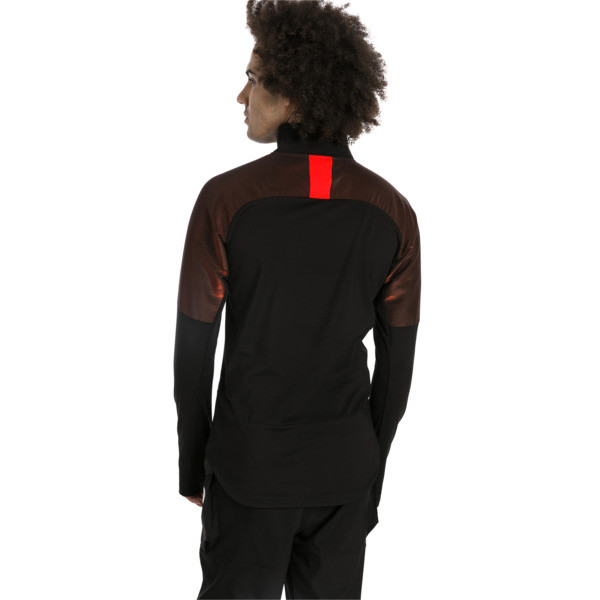 ftblNXT Quarter Zip Men's Football Top, Puma Black-Red Blast, large