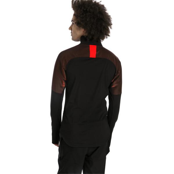 ftblNXT Men's 1/4 Zip Top, Puma Black-Red Blast, large