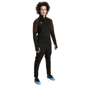 Thumbnail 3 of ftblNXT Quarter Zip Men's Football Top, Puma Black-Red Blast, medium