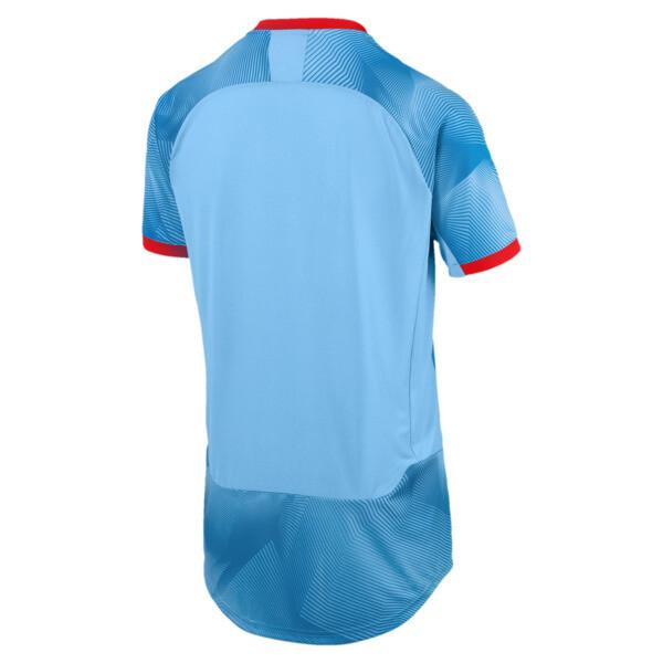 FTBLNXT グラフィック シャツ, Bleu Azur-Red Blast, large-JPN