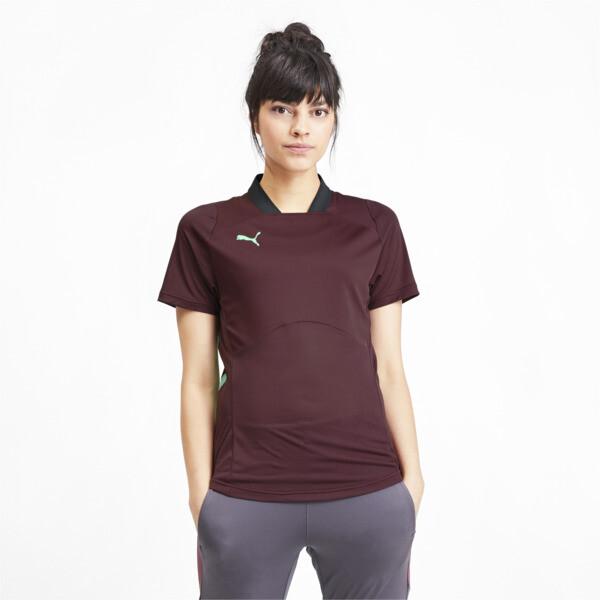 ftblNXT Pro Women's Football Shirt, Vineyard Wine-Green Glimmer, large