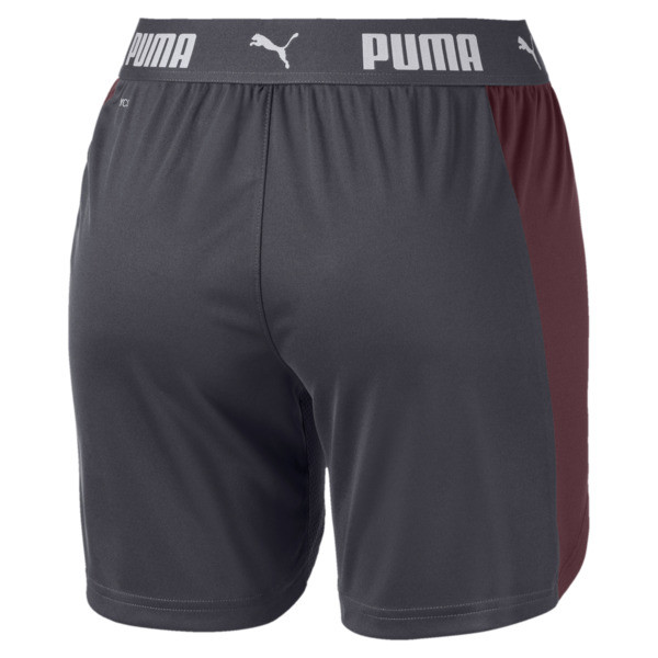 ftblNXT Women's Shorts, Ebony-Vineyard Wine, large