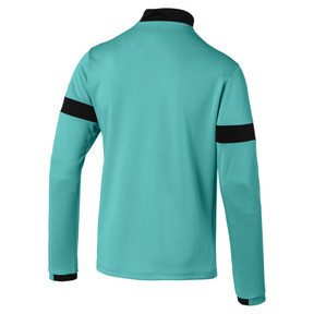 Thumbnail 5 of ftblPLAY Quarter Zip Men's Training Top, Blue Turquoise-Puma Black, medium