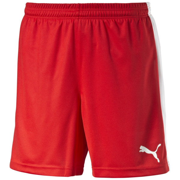 Fußballshorts, puma red-white, large