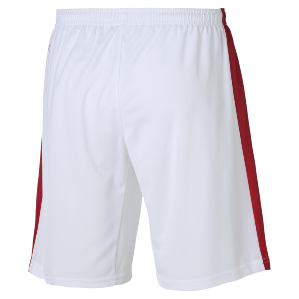 Fußballshorts, white-puma red, large