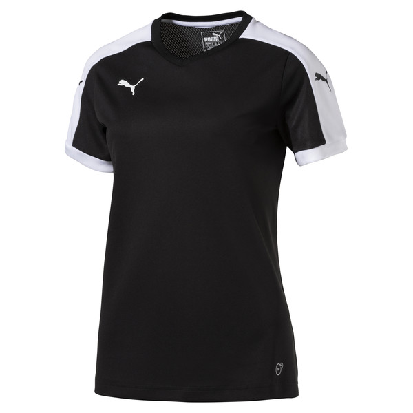 Football Women's Pitch Jersey, black-white, large