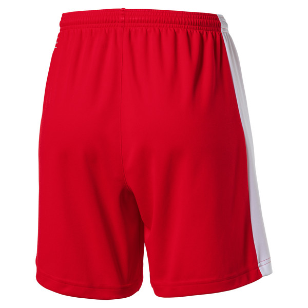 Football Women's Pitch Shorts, puma red-white, large