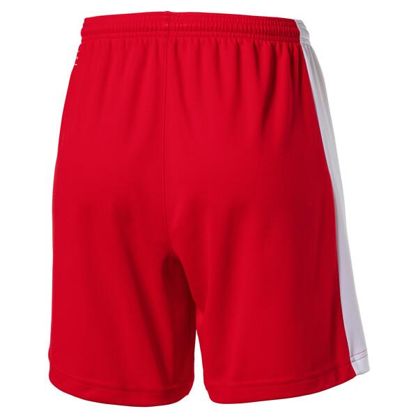 Damen Fußballshorts, puma red-white, large