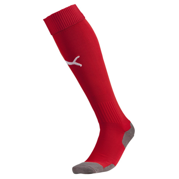 Fußball Striker Socken, puma red-white, large