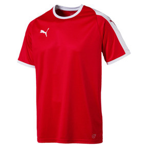 Thumbnail 4 of Liga Men's Football Jersey, Puma Red-Puma White, medium