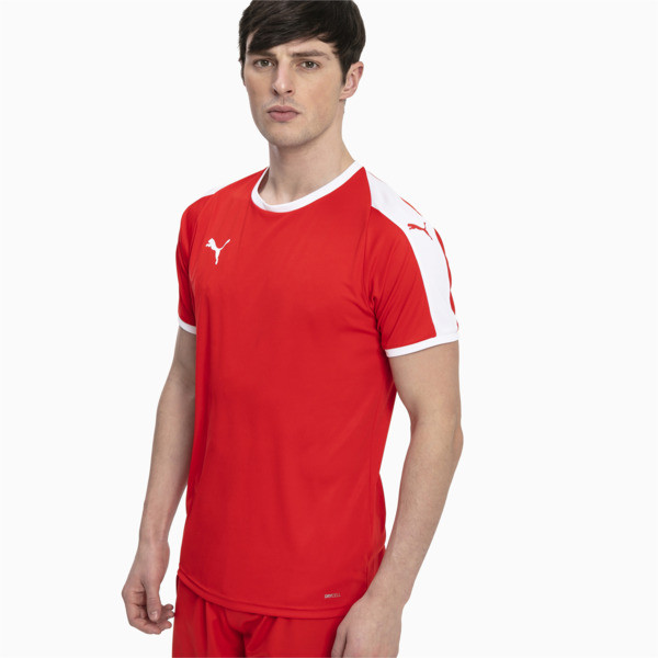 Liga Men's Football Jersey, Puma Red-Puma White, large