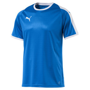 Thumbnail 4 of Liga Men's Football Jersey, Electric Blue Lemonade-White, medium