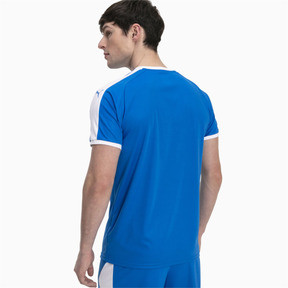 Thumbnail 2 of Liga Men's Football Jersey, Electric Blue Lemonade-White, medium