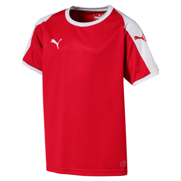 Liga Junior Football Jersey, Puma Red-Puma White, large