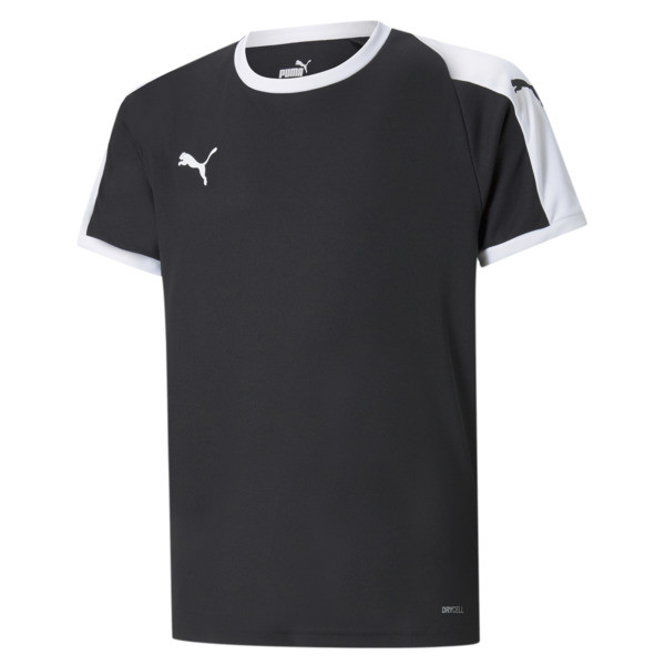 Liga Junior Football Jersey, Puma Black-Puma White, large