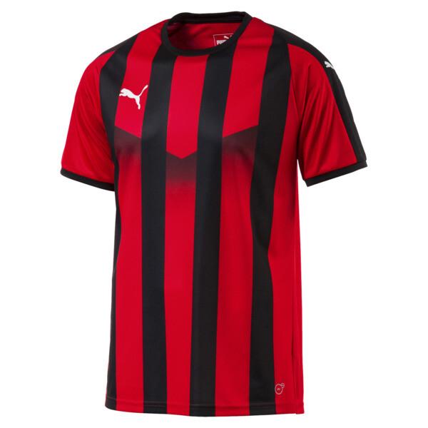 b44a29fd8 Męska koszulka piłkarska Liga w paski | Puma Red-Puma Black | Buty ...