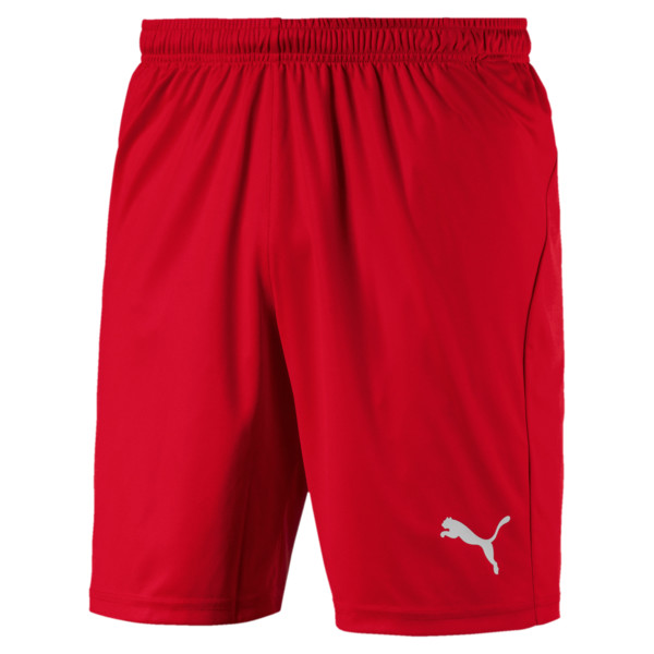 Liga Core Men's Football Shorts, Puma Red-Puma White, large