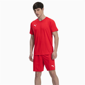 Thumbnail 3 of Liga Core Men's Football Shorts, Puma Red-Puma White, medium