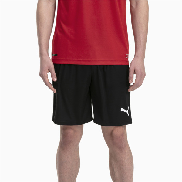Short Football LIGA Core pour homme, Puma Black-Puma White, large
