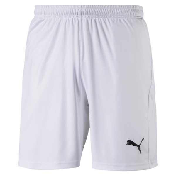 Short Football LIGA Core pour homme, Puma White-Puma Black, large