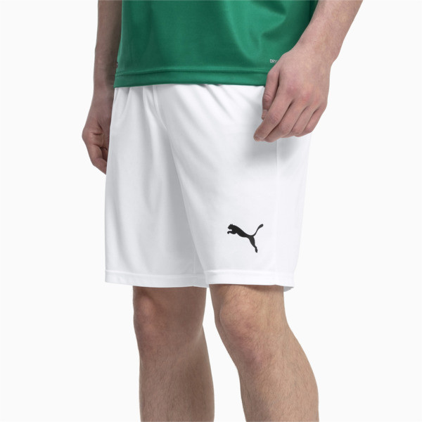 Liga Core Men's Football Shorts, Puma White-Puma Black, large