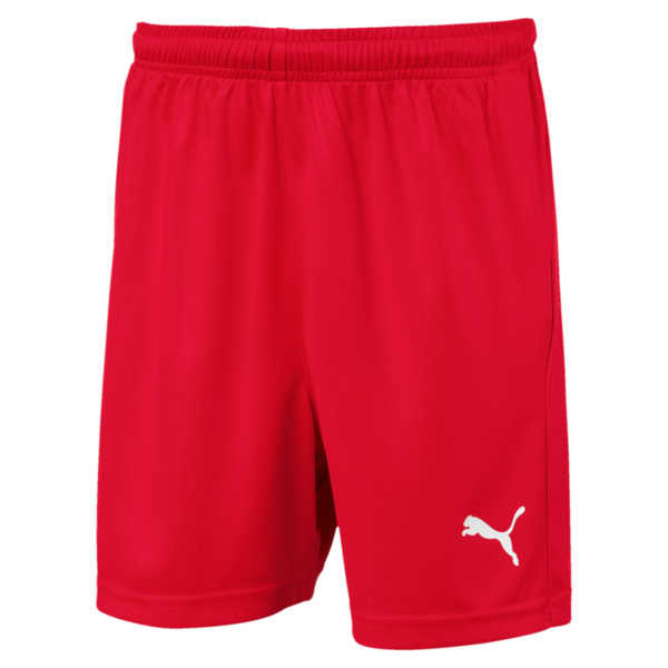 Liga Core Junior Football Shorts, Puma Red-Puma White, large