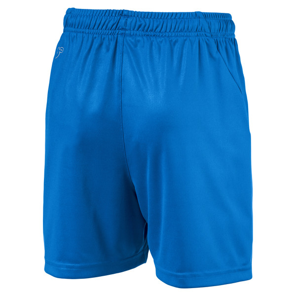 Liga Core Junior Football Shorts, Electric Blue Lemonade-White, large
