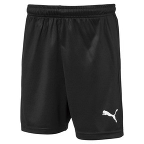 Thumbnail 1 of Liga Core Junior Football Shorts, Puma Black-Puma White, medium