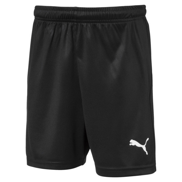 Liga Core Junior Football Shorts, Puma Black-Puma White, large