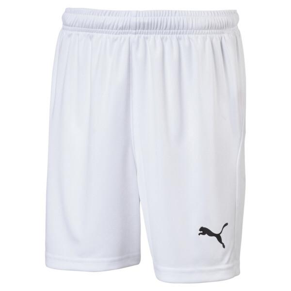 Liga Core Junior Football Shorts, Puma White-Puma Black, large