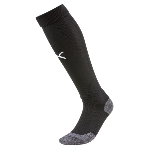 Liga Soccer Socks, Puma Black-Puma White, large