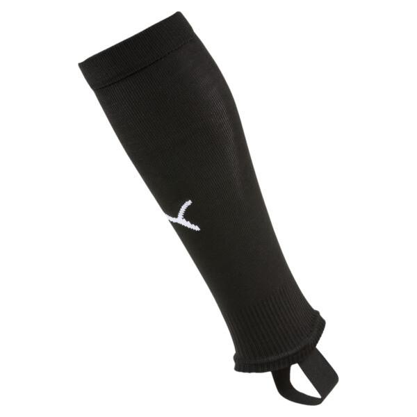 Chaussettes de foot LIGA avec patte pour homme, Puma Black-Puma White, large