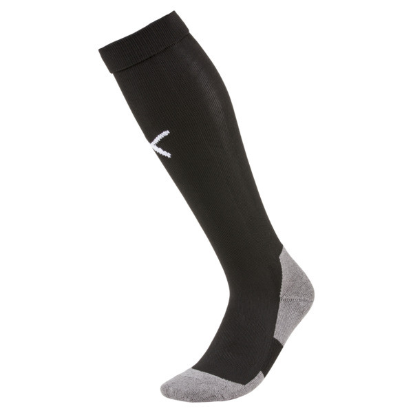 Football Men's LIGA Core Socks, Puma Black-Puma White, large