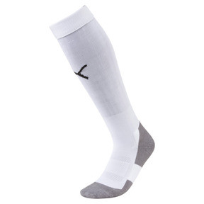 Thumbnail 1 of Football Men's LIGA Core Socks, Puma White-Puma Black, medium