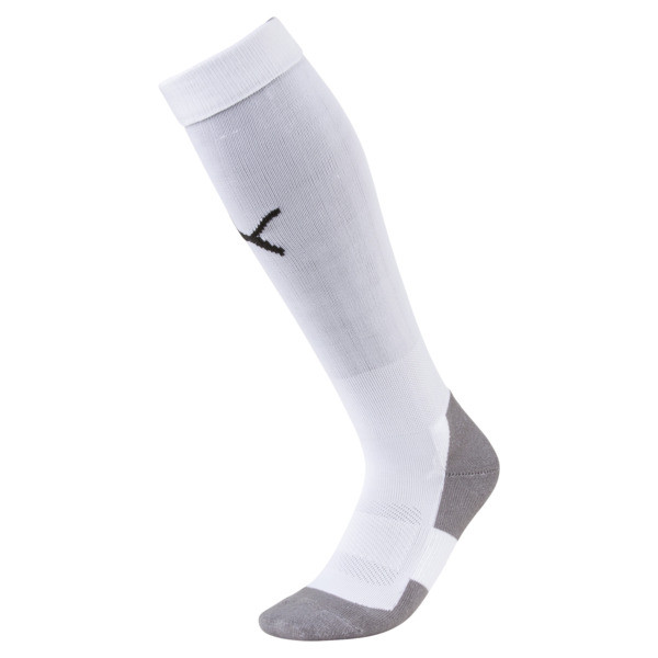 Football Men's LIGA Core Socks, Puma White-Puma Black, large