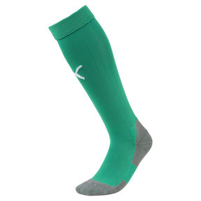 Thumbnail 1 of Football Men's LIGA Core Socks, Pepper Green-Puma White, medium