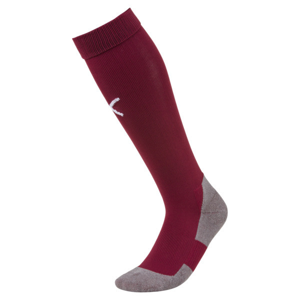 Football Men's LIGA Core Socks, Cordovan-Puma White, large