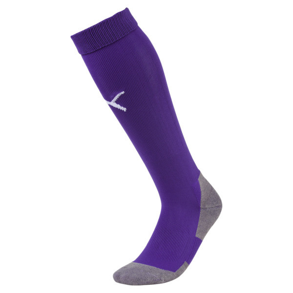 Football Men's LIGA Core Socks, Prism Violet-Puma White, large