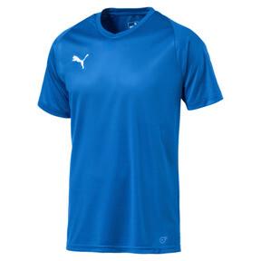 Thumbnail 4 of Liga Core Men's Football Jersey, Electric Blue Lemonade-White, medium